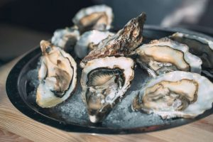 close up of Oysters from Sherpard Wellington